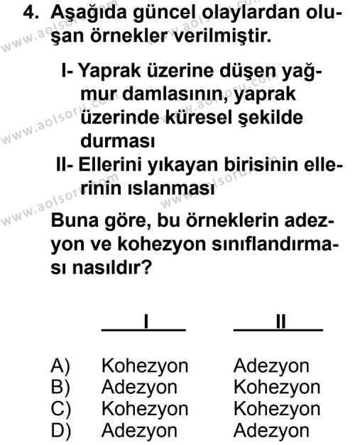 Fizik 3 Dersi 2014 - 2015 Yılı 1. Dönem Sınav Soruları 4. Soru