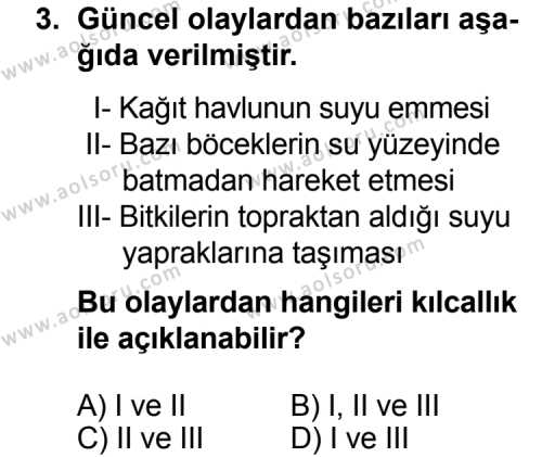 Fizik 3 Dersi 2014 - 2015 Yılı Ek Sınav Soruları 3. Soru
