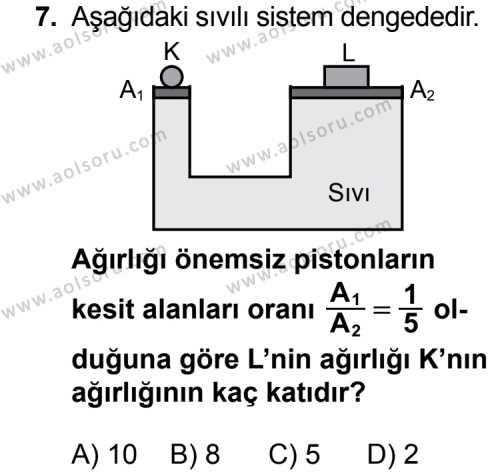 Fizik 3 Dersi 2015-2016 Yılı 1. Dönem Sınavı 7. Soru