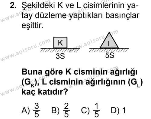 Fizik 3 Dersi 2015 - 2016 Yılı Ek Sınav Soruları 2. Soru