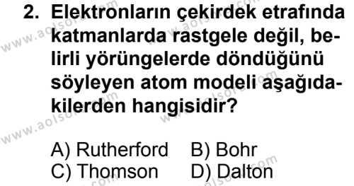 Fizik 4 Dersi 2013 - 2014 Yılı 3. Dönem Sınav Soruları 2. Soru