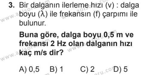 Fizik 4 Dersi 2018 - 2019 Yılı 2. Dönem Sınavı 3. Soru