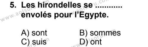 Fransızca 1 Dersi 2013-2014 Yılı 1. Dönem Sınavı 5. Soru
