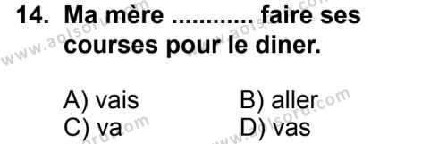 Fransızca 5 Dersi 2012-2013 Yılı 1. Dönem Sınavı 14. Soru