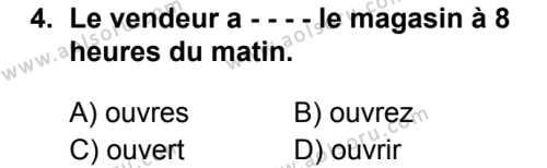 Fransızca 5 Dersi 2019 - 2020 Yılı 1. Dönem Sınav Soruları 4. Soru