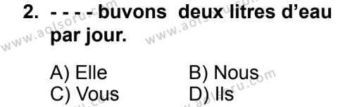 Fransızca 6 Dersi 2014 - 2015 Yılı Ek Sınav Soruları 2. Soru