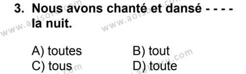 Fransızca 6 Dersi 2018 - 2019 Yılı Ek Sınav Soruları 3. Soru