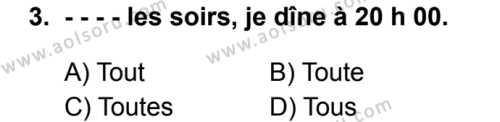 Fransızca 6 Dersi 2019 - 2020 Yılı 2. Dönem Sınav Soruları 3. Soru