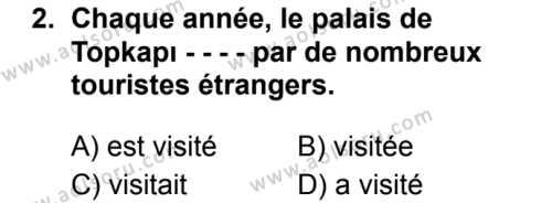 Fransızca 8 Dersi 2019 - 2020 Yılı 1. Dönem Sınav Soruları 2. Soru