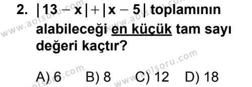 Geometri 1 Dersi 2011-2012 Yılı 1. Dönem Sınavı 2. Soru