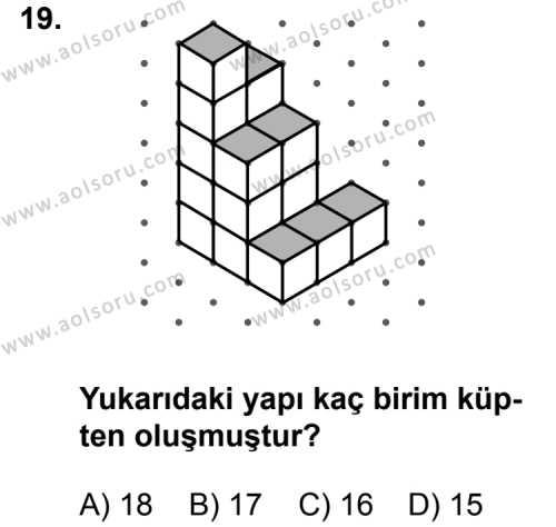 Geometri 1 Dersi 2011-2012 Yılı 1. Dönem Sınavı 19. Soru