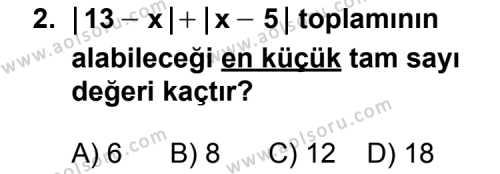 Geometri 1 Dersi 2011 - 2012 Yılı Ek Sınav Soruları 2. Soru