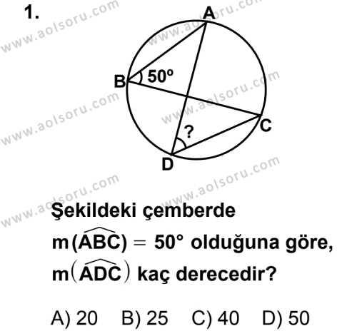 Geometri 2 Dersi 2011 - 2012 Yılı Ek Sınav Soruları 1. Soru