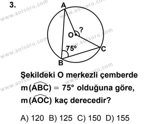 Geometri 2 Dersi 2011 - 2012 Yılı Ek Sınav Soruları 3. Soru