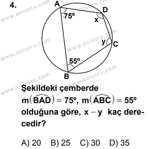 Geometri 2 Dersi 2011 - 2012 Yılı Ek Sınav Soruları 4. Soru