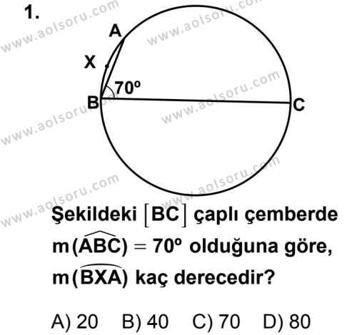 Geometri 2 Dersi 2012-2013 Yılı 1. Dönem Sınavı 1. Soru