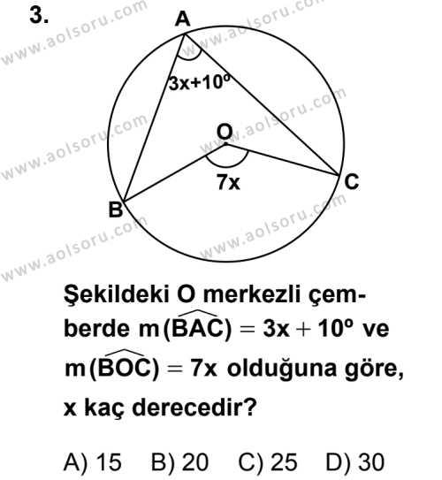 Geometri 2 Dersi 2012 - 2013 Yılı 1. Dönem Sınav Soruları 3. Soru