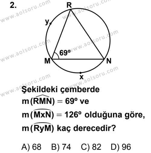 Geometri 2 Dersi 2012 - 2013 Yılı 2. Dönem Sınavı 2. Soru