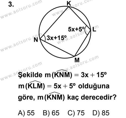 Geometri 2 Dersi 2012 - 2013 Yılı 2. Dönem Sınavı 3. Soru