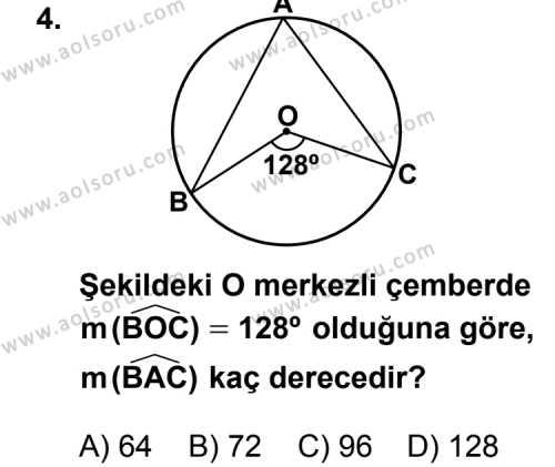 Geometri 2 Dersi 2012 - 2013 Yılı 2. Dönem Sınavı 4. Soru