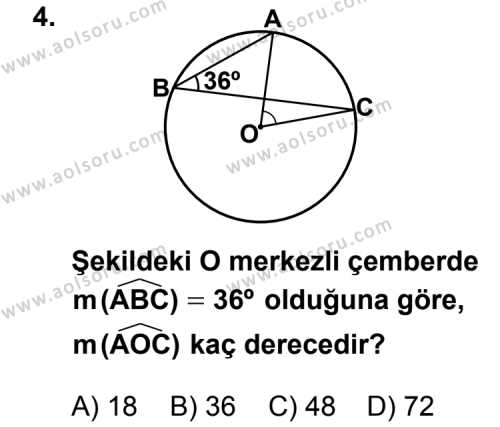 Geometri 2 Dersi 2012 - 2013 Yılı 3. Dönem Sınavı 4. Soru