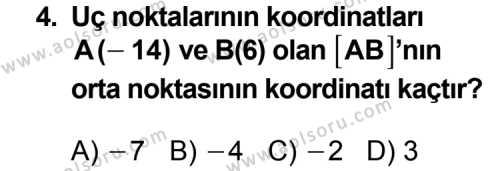 Geometri 3 Dersi 2013 - 2014 Yılı 1. Dönem Sınavı 4. Soru