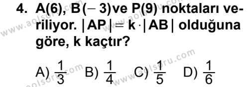 Geometri 3 Dersi 2013 - 2014 Yılı 2. Dönem Sınavı 4. Soru