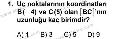 Geometri 3 Dersi 2013 - 2014 Yılı 3. Dönem Sınav Soruları 1. Soru