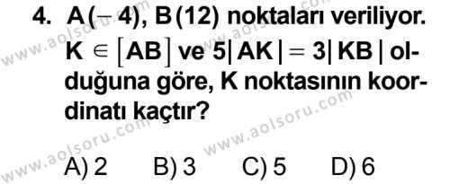 Geometri 3 Dersi 2013 - 2014 Yılı 3. Dönem Sınav Soruları 4. Soru
