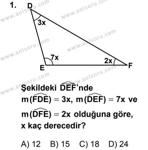 Geometri 4 Dersi 2013 - 2014 Yılı 3. Dönem Sınav Soruları 1. Soru