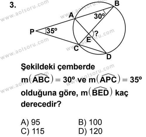 Geometri 6 Dersi 2011 - 2012 Yılı Ek Sınav Soruları 3. Soru