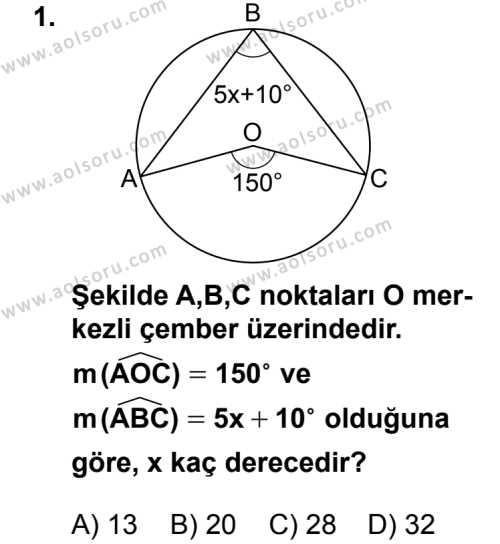 Geometri 6 Dersi 2014 - 2015 Yılı 2. Dönem Sınav Soruları 1. Soru