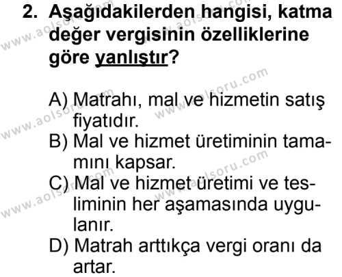 Hukuk 2 Dersi 2013 - 2014 Yılı 1. Dönem Sınav Soruları 2. Soru