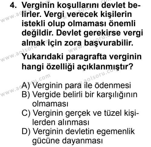 Hukuk 2 Dersi 2013 - 2014 Yılı 1. Dönem Sınav Soruları 4. Soru