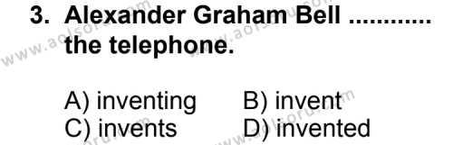 İngilizce 1 Dersi 2011 - 2012 Yılı Ek Sınavı 3. Soru