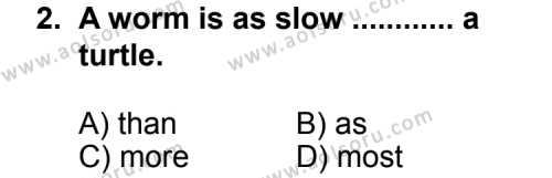 İngilizce 1 Dersi 2012 - 2013 Yılı 2. Dönem Sınav Soruları 2. Soru