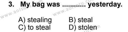 İngilizce 2 Dersi 2012 - 2013 Yılı 3. Dönem Sınav Soruları 3. Soru