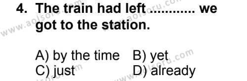 İngilizce 2 Dersi 2012 - 2013 Yılı 3. Dönem Sınav Soruları 4. Soru