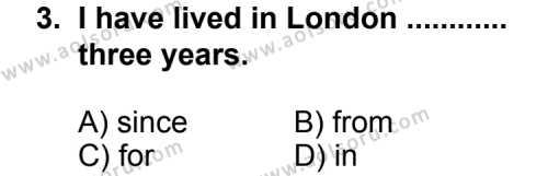 İngilizce 2 Dersi 2013 - 2014 Yılı 2. Dönem Sınav Soruları 3. Soru