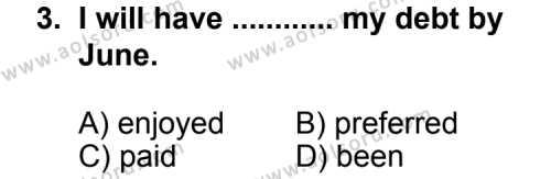 İngilizce 3 Dersi 2011 - 2012 Yılı Ek Sınav Soruları 3. Soru
