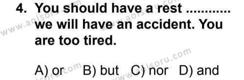 İngilizce 3 Dersi 2013 - 2014 Yılı 2. Dönem Sınavı 4. Soru