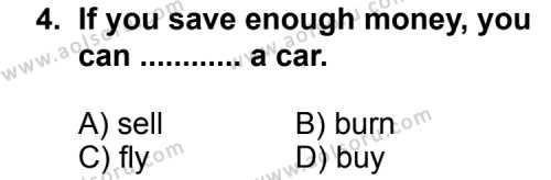 İngilizce 4 Dersi 2011 - 2012 Yılı Ek Sınav Soruları 4. Soru