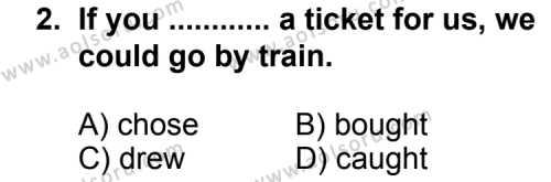 İngilizce 4 Dersi 2012-2013 Yılı 1. Dönem Sınavı 2. Soru