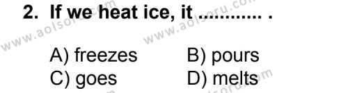 İngilizce 4 Dersi 2012 - 2013 Yılı 2. Dönem Sınav Soruları 2. Soru
