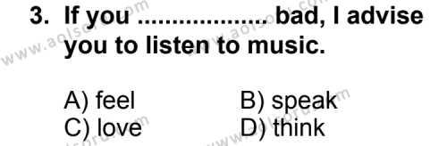 İngilizce 4 Dersi 2012 - 2013 Yılı 2. Dönem Sınav Soruları 3. Soru