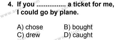 İngilizce 4 Dersi 2012 - 2013 Yılı 2. Dönem Sınav Soruları 4. Soru