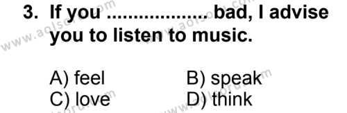 İngilizce 4 Dersi 2012 - 2013 Yılı 3. Dönem Sınavı 3. Soru