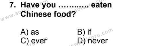İngilizce 4 Dersi 2013-2014 Yılı 1. Dönem Sınavı 7. Soru