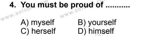 İngilizce 5 Dersi 2011 - 2012 Yılı 2. Dönem Sınavı 4. Soru