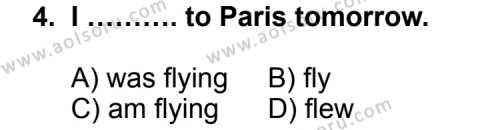 İngilizce 5 Dersi 2012 - 2013 Yılı 3. Dönem Sınav Soruları 4. Soru